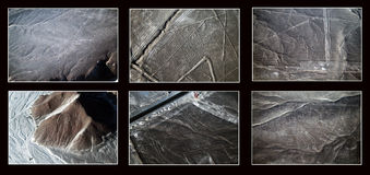 Nazca lines collage Royalty Free Stock Photos