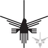 Nazca lines hummingbirden Arkivbilder
