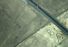 Nazca Lines: The Lizard Stock Photo