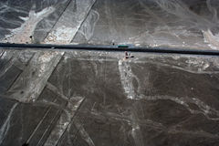 Nazca Lines and Pan-American Highway Royalty Free Stock Images