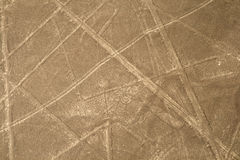 Nazca lines, Peru - Hypnotized Eyes or Scorpion Royalty Free Stock Photography