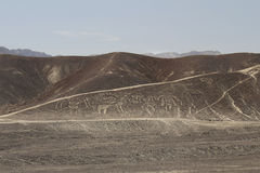 Nazca lines and peruvian desert Stock Photo