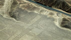 Nazca Lines, Southern Peru Are they the work of aliens? royalty free stock images