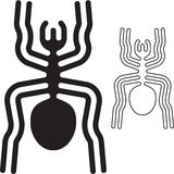 Nazca lines spider. Black  sign Royalty Free Stock Photography