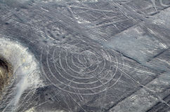 Nazca Lines - Spiral - Aerial View Royalty Free Stock Photography