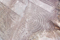 Nazca Lines Spiral Royalty Free Stock Image