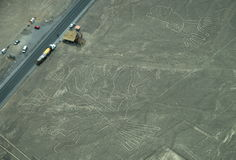 Nazca Lines: The viewing post Stock Photo