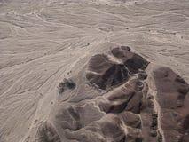 Nazca linie i pustynny widok od małego samolotu Obrazy Royalty Free