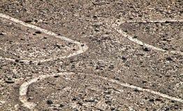 Nazca linie, Południowy Peru Zdjęcie Royalty Free