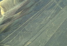 Nazca linie: Spirale fotografia stock
