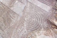 Nazca linjer spiral Royaltyfri Bild