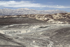 Nazca peruvian linii pustynia i Obraz Royalty Free