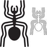 Nazca wykłada pająka ilustracji