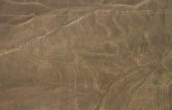 Nazca Zeilen, Luftaufnahme, Peru Stockbild