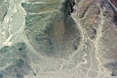 Nazcalijnen - Cijfer Royalty-vrije Stock Foto