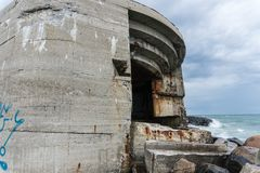 Nazi bunkers at the beach in Skagen, Denmark.  Stock Image
