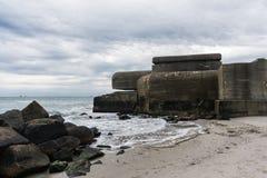 Nazi bunkers at the beach in Skagen, Denmark.  Stock Photo