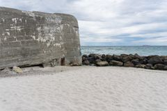 Nazi bunkers at the beach in Skagen, Denmark Stock Photos