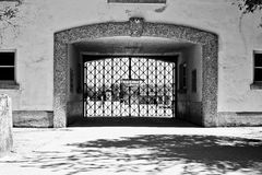 Nazi Camp. The nazi camp in Dachau (Germany Royalty Free Stock Photos
