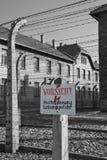 Nazi Concentratiekamp van Auschwitz - Polen royalty-vrije stock afbeelding