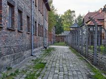 AUSCHWITZ, POLAND - SEPTEMBER 2, 2017. Nazi concentration camp Auschwitz I, Auschwitz, Poland Stock Images