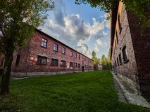 AUSCHWITZ, POLAND - SEPTEMBER 2, 2017. Nazi concentration camp Auschwitz I, Auschwitz, Poland Royalty Free Stock Photos