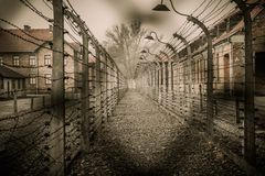 Nazi concentration camp Auschwitz I Royalty Free Stock Photos