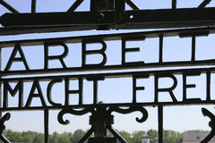Nazi concentration camp in Dachau, Bavaria royalty free stock photography