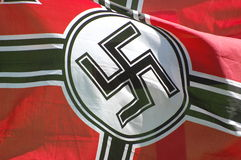 Nazi flag. Used for historical military reenactment of WW2 Stock Image