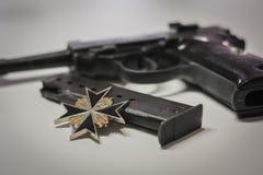 The nazi germany military automatic pistol from world war 2 era stock photo