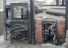 Nazi ovens stock photos