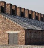 nazi poland för birkenaulägerkoncentration Arkivbilder