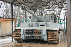 Nazi tank in Moscow (Russia) Royalty Free Stock Photos