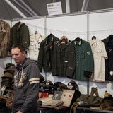 Nazi uniforms at Militalia 2013 in Milan, Italy Stock Image