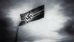 Naziflagge bewegt in einen Wind wellenartig stock video footage