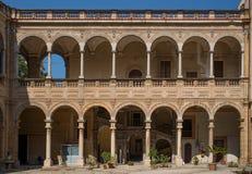 Nazionale di Biblioteca di Palermo La Sicilia, Italia Fotografia Stock