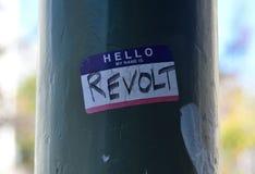 Nazionalista bianco e diverbio anti--Facist dei gruppi in Berkeley California del centro Fotografia Stock