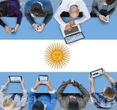 Nazionalità Liberty Concept del paese della bandiera dell'Argentina Fotografie Stock Libere da Diritti