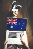 Nazionalità Liberty Concept del paese della bandiera dell'Australia Immagini Stock Libere da Diritti