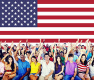 Nazionalità Liberty Country Concept della bandiera americana Fotografia Stock