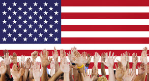 Nazionalità Liberty Country Concept della bandiera americana Immagini Stock Libere da Diritti
