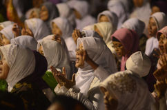 NAZIONE MUSULMANA DI MAGGIORANZA DELL'INDONESIA Fotografie Stock Libere da Diritti