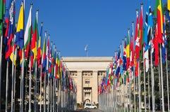 Nazioni Ginevra del DES di Palais fotografia stock libera da diritti