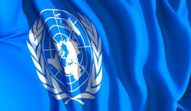 Nazioni Unite d'ondeggiamento Fotografia Stock Libera da Diritti