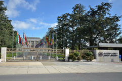 Nazioni unite a Ginevra. Fotografia Stock Libera da Diritti