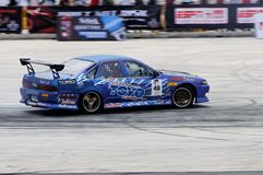 Nazrul performing a drift during a competition Stock Images