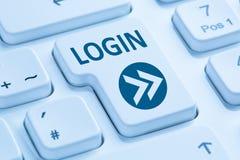Nazwa użytkownika guzik przedkłada błękitną komputerową klawiaturę zdjęcie stock