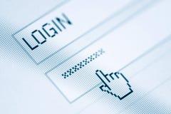 Nazwa użytkownika i hasło obrazy stock