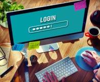 Nazwa Użytkownika interfejsu hasła ochrony pojęcie fotografia royalty free