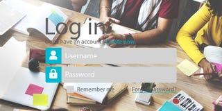 Nazwy użytkownika hasła tożsamości prywatności Internetowa Online ochrona Conc Obraz Royalty Free